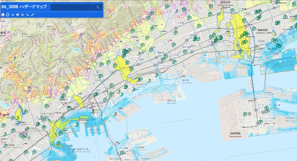 神戸市ハザードマップ