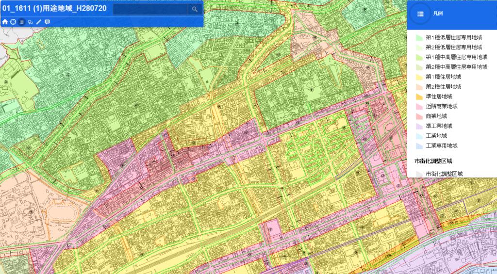 神戸市用途地域図
