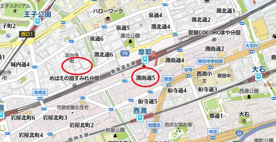 JR神戸線摩耶駅