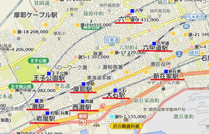 神戸市灘区 駅