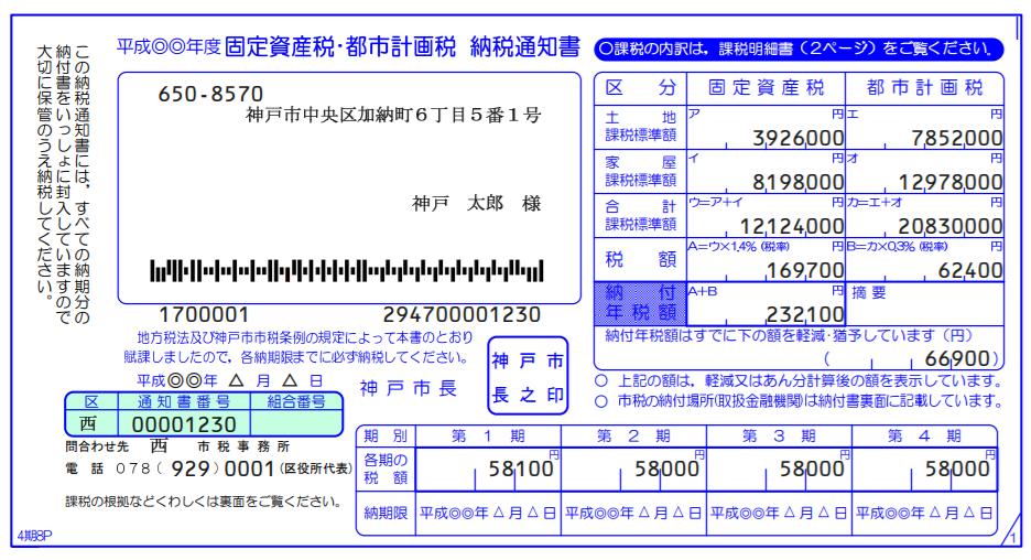 神戸市 固定資産税